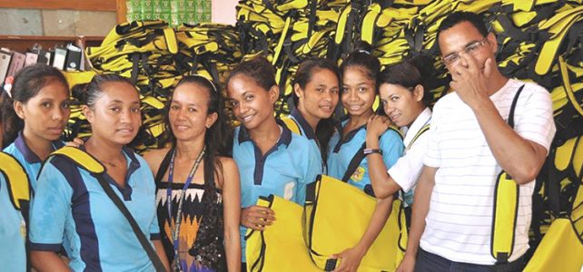 Donation of scholl bags